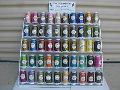 NEW 100 Spools of Outback Embroidery Threads - 50 x 2 Colour Spools 1000metres