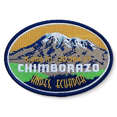 Chimborazo Embroidered Mountain Patch