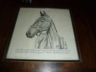 Arkle Horse Racing Sketched Head Framed Cheltenham Gold Cup 1964 - Rare