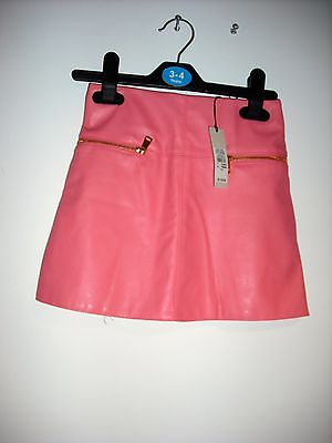River Island faux coral leather skirt BNWT Rrp £15.00 age 3-12 Years