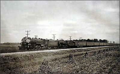 Southwestern Limited In Indiana Vintage Train Print
