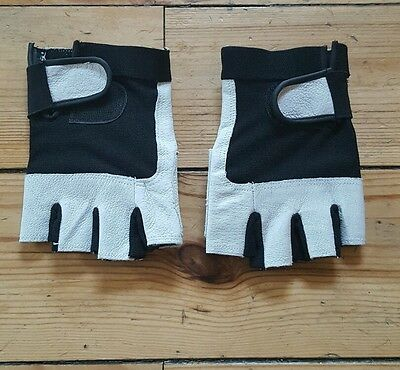 Mountain Bike Bicycle Cycling Fingerless Gloves Size Large