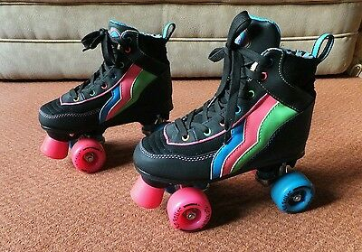 Girls / Ladies ROLLER BOOTS Rio Passion Quad Skates. Size 4. Hardly used.
