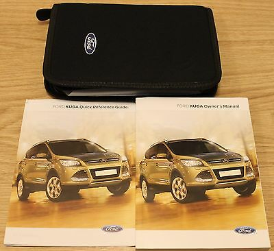 Ford Kuga Handbook Owners Manual Wallet With Audio Sync 2013-2016 T1698