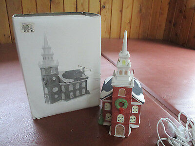 """Dept. 56  """"old North Church"""" Building New England"""