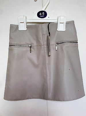 River Island Faux Beige Leather Skirt BNWT Rrp £15.00 Age 3-12 Years