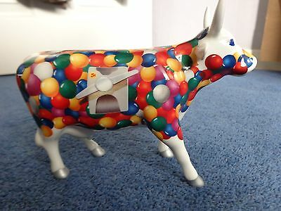 """Cow Parade, retired/out of production """"Gum Bull Machine Cow"""" 2002"""