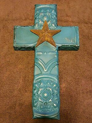 One Of A Kind Antique Ceiling Tile Cross Architectural Salvage Small Town Texas