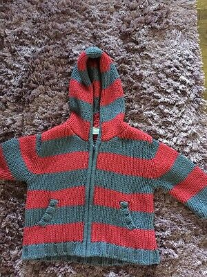 Baby Boys Gorgeous Hooded Cardigan 3-6 Months