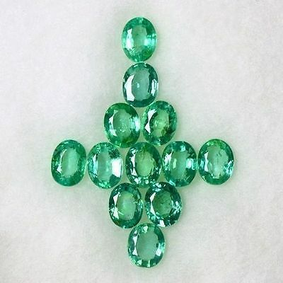 3.51 Cts Natural Top Green Emerald Gemstone Oval Cut Lot Untreated Zambia 5x4 mm