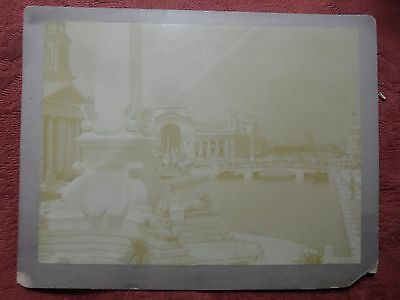 "ANTIQUE 1893 Columbian Exposition Cabinet Card/Photograph 6""x8"" C.D. Arnold"
