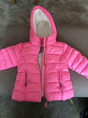 Girls Winter Coat By Next - Pink Age 3-4 Years