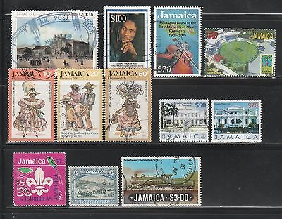 Jamaica, Small Lot Of 12 Used, CV-$35.10
