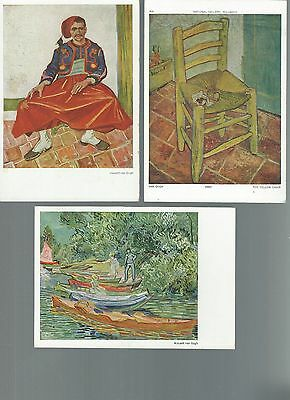 Postcards: 3 cards: paintings by Vincent Van Gogh.  un-posted