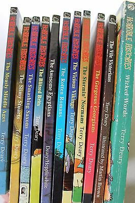 Horrible Histories paperback job lot collection 11 books