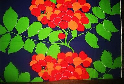 vintage Scandinavian 70s TAMPELLA COLLECTIBLE FABRIC MADE IN FINLAND RARE