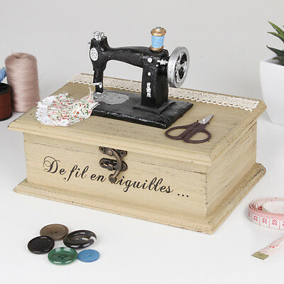 Vintage Sewing Machine Wooden Sewing Box by Dibor