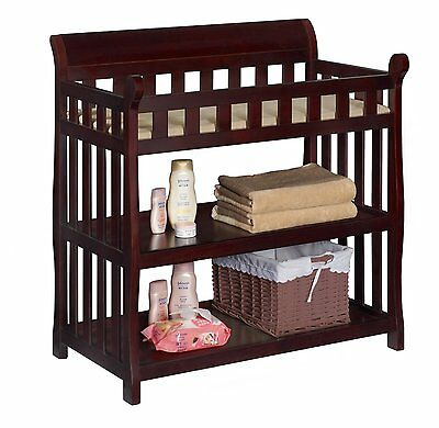 Baby Changing Table Nursery Station Furniture Diaper Infant Room Storage Shelf