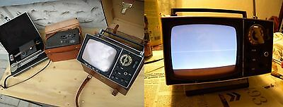 TV SONY MICRO TV 5-503 M portable television 60s battery pack external antenna