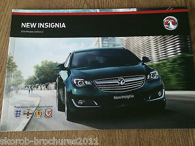VAUXHALL - The Insignia Sales Brochure 2014 Edition 2