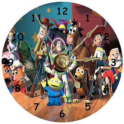Toy Story on a handmade cd clock