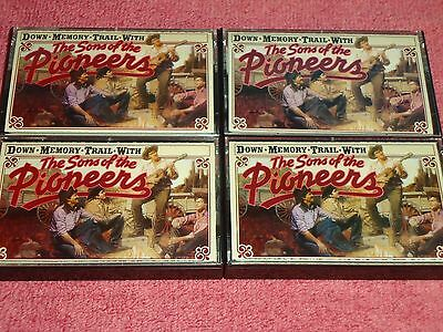 The Sons Of The Pioneers - Down Memory Trail With - 4 Pc. Audio Cassette LOT