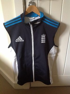 Player Issue England ECB Adidas Cricket Training Gilet Top (40/42) BNWT