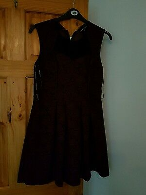 womens warehouse lace purple skater dress 16 christmas party