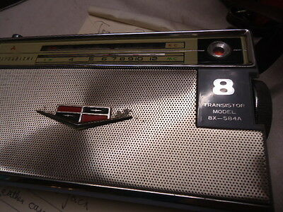 Old Vintage Retro Mitsubishi 8 Transistor Radio Collectable Model 8X-584A