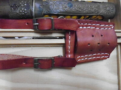 WW2 china Chinese military dagger leather hanger only ( Reprodcution)
