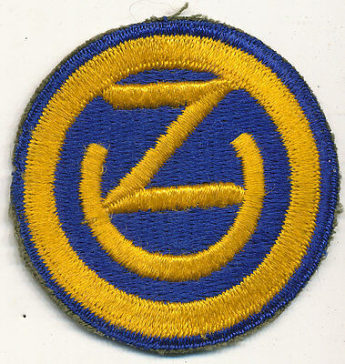 102nd Infantry Division patch real WWII make US Army