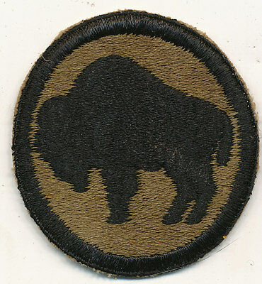 92nd Infantry Division patch real WWII make US Army Buffalo Soliders