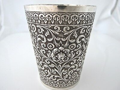 Outstanding quality Indian Kutch silver  beaker c 1890