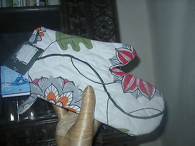 "Designer Countrystyle French Linum Oven Mitt Bnwt ""kaleido"""
