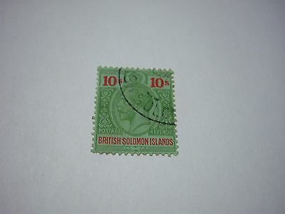 SOLOMON ISLES-USED-SCOTT #40-10/-green&red/green-George5th-cv$100