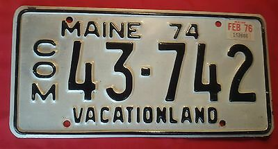 1974 ME Maine Commercial #43▪742 Vintage Vacationland Commercial License Plate*