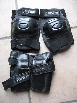 Protective clothing-Knees & Elbows- Skates and Boards-Black by Street Blades