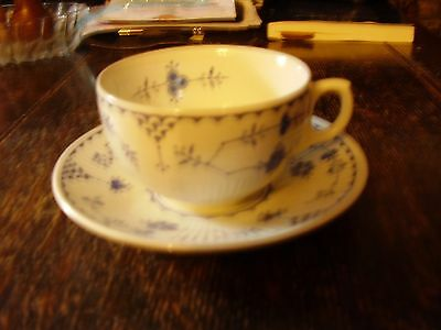 Furnivals Blue Denmark pattern cup and saucer