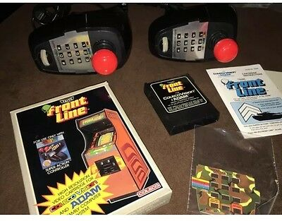 Coleco Super Controller Lot Of 2 With  Complete Frontline Game