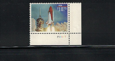 US 1995: #2544A Space Shuttle Endeavour LR Pl Nob Single $10.75 MNH - Lot #12/3