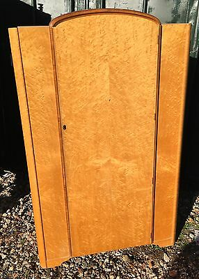 Walnut wardrobe Art Deco veneer armoire large double