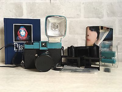 Diana F+ Lomography Camera With Flash Plus 35mm Back and Book