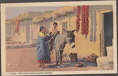 Pueblo Indians The First Riding Lesson  Arizona   # A7