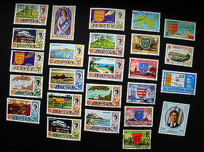 A group of stamps from Jersey