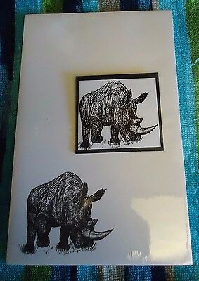 Rhino Rhinoceros 2 Pc Set-Notepad and Magnet New