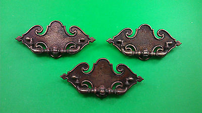 3 Huge Antique Vintage Medieval Style Dresser Drawer Bronze Handles/pulls