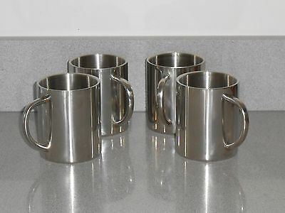 Stainless Steel Camping Mugs x 4