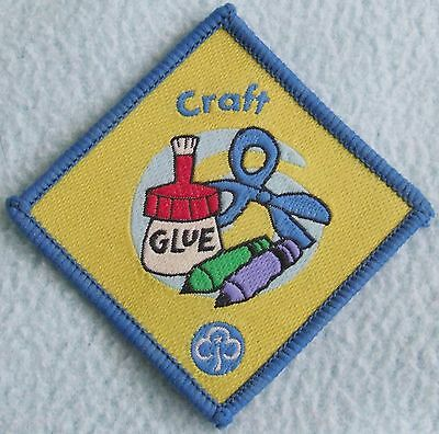 Brownies / Girl Guides CRAFT Embroidered Iron On PATCH - For Wear, Crafts etc