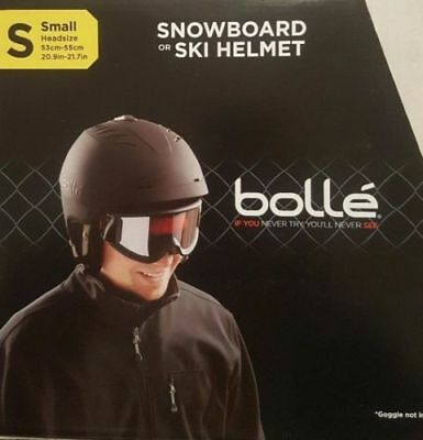 Bolle Snowboard Ski Helmet Vented Snow Sports Small 53-55cm Headsize + Carry Bag