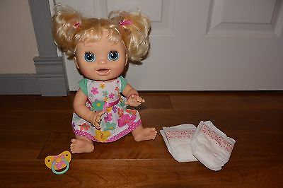 Baby Alive Real Surprises 2012 Blonde Interactive Doll Bilingual English Spanish